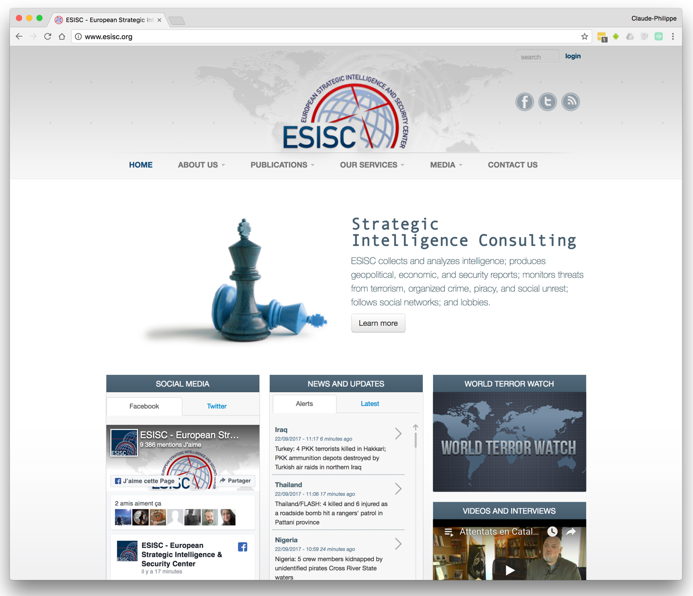 ESISC Website & World Terror Watch