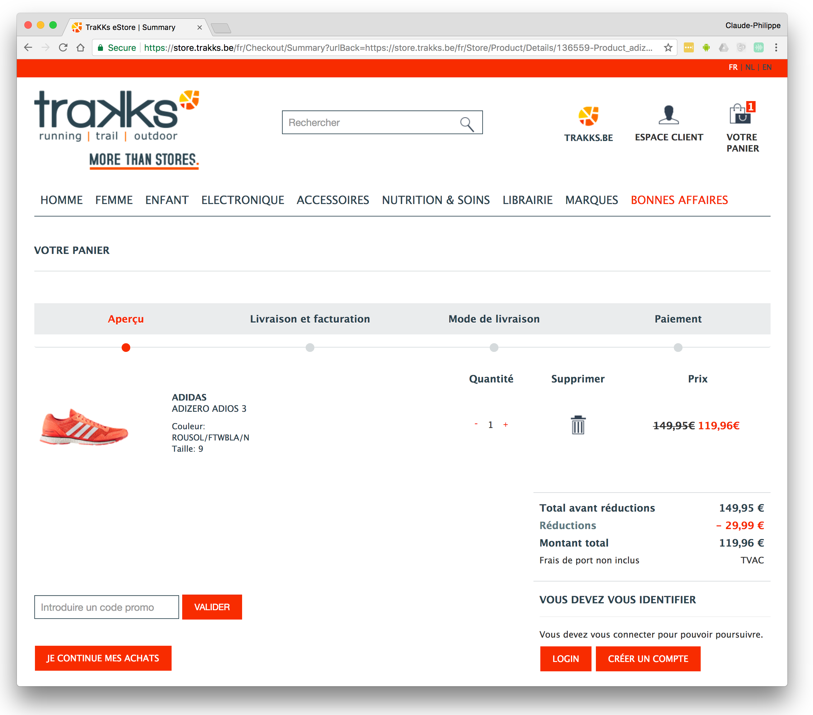 Trakks e-commerce