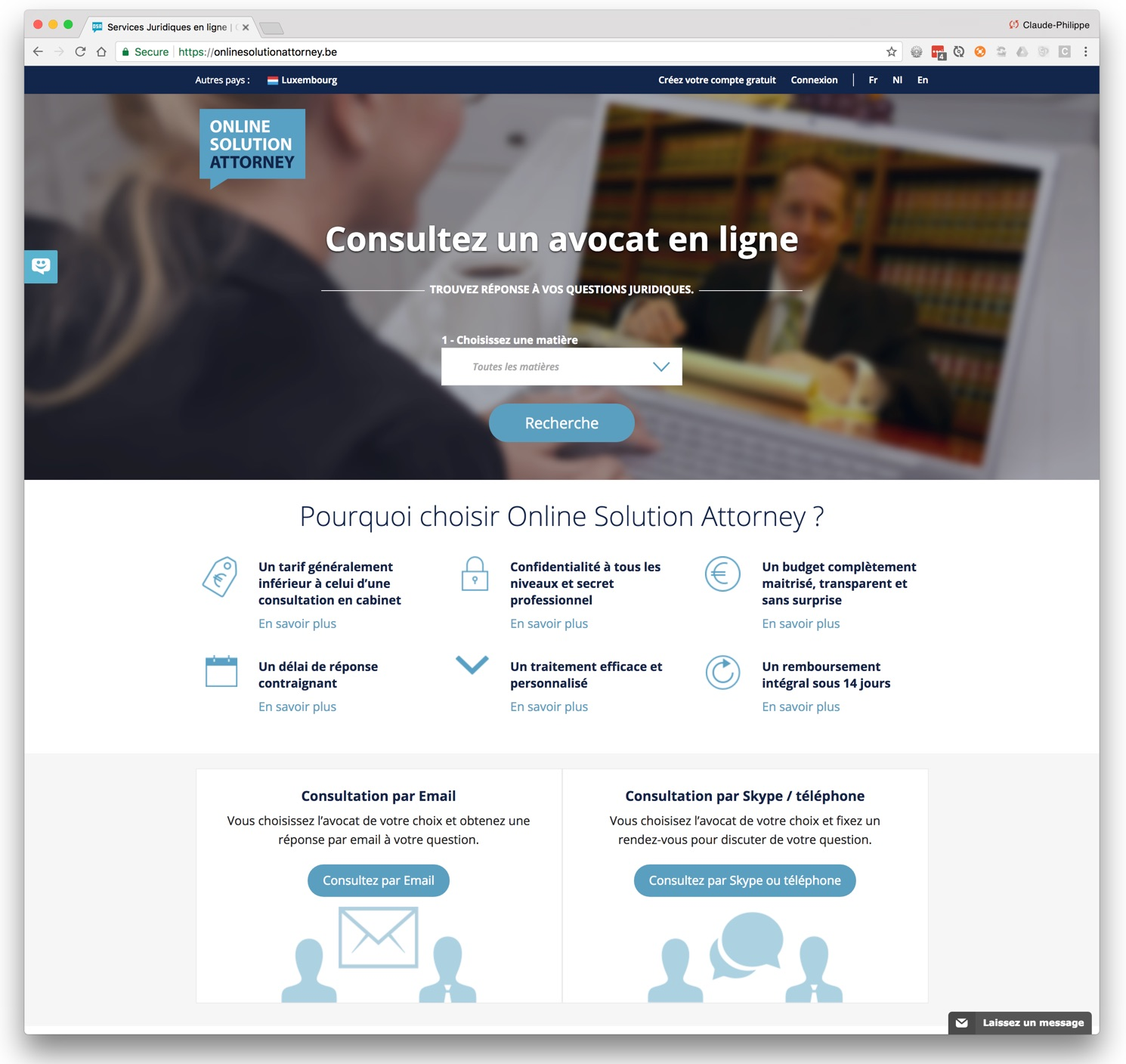 Online Solution Attorney Website