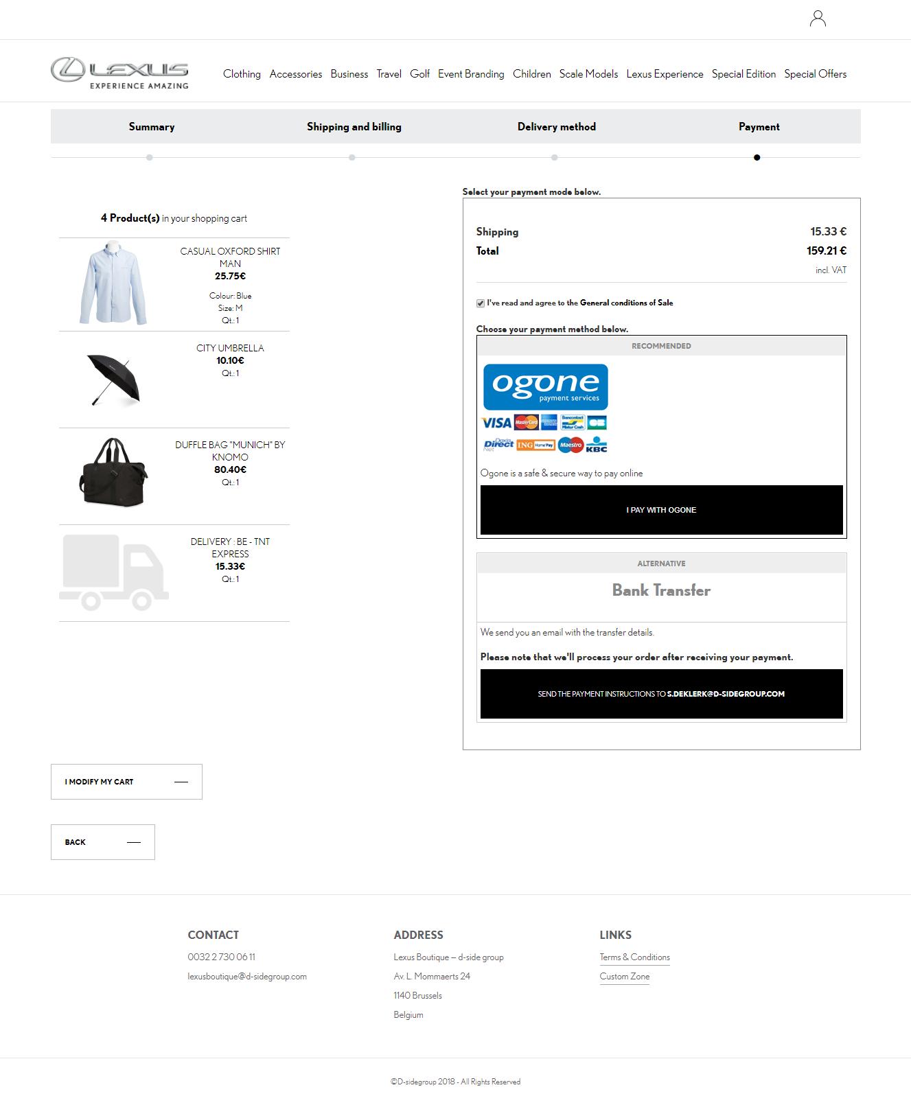 Automotive boutique e-commerce